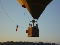 La montgolfière décole